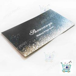 Visiting card Metallic sample for beauty artisit
