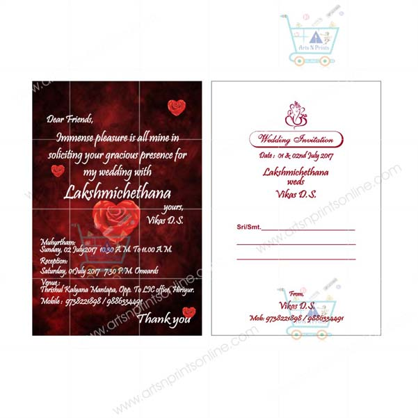 wedding invitation card shapes
