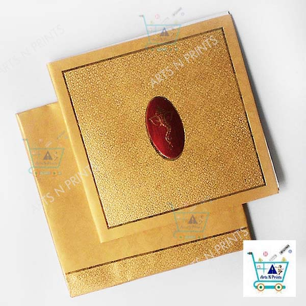Golden Self Design Square Card