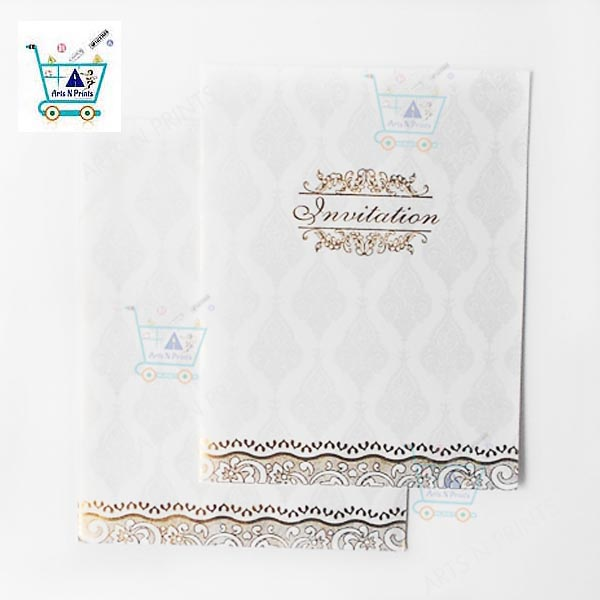 White Wedding invitation Cards online